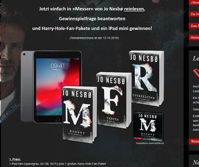 Apple iPad Mini Gewinnspiel Nesbo Buchverlosung