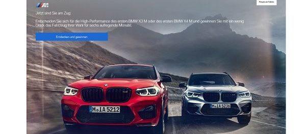 BMW Auto-Gewinnspiel X3 M oder X4 M gewinnen