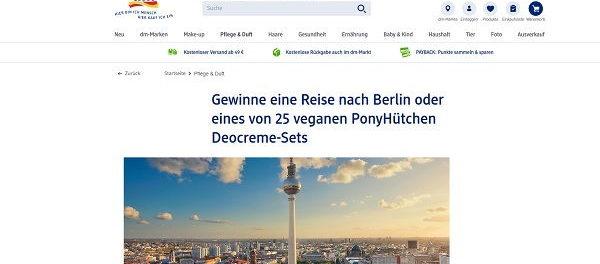 Berlin Reise Gewinnspiel DM Drogerie und PonyHütchen