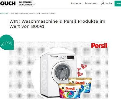 Bosch Waschmaschine Gewinnspiel Persil und Couch Magazin