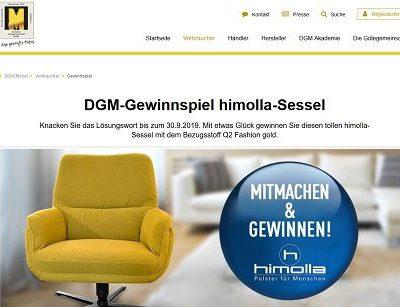 DGM Gewinnspiel himolla Sessel