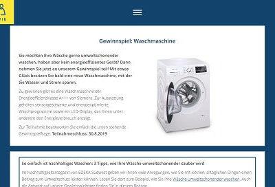 EDEKA Gewinnspiel - Siemens Waschmaschine gewinnen