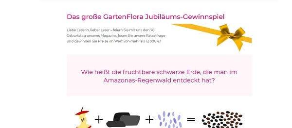 Garten Flora Jubiläums-Gewinnspiel E-Bike und Gartengeräte gewinnen