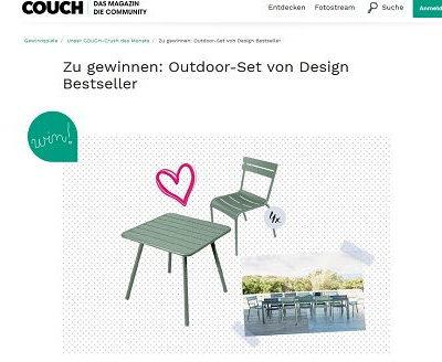 Gartenmöbel Gewinnspiel Couch Magazin Tisch und Stühle gewinnen