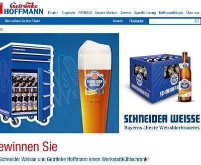 Getränke Hoffmann Gewinnspiel Werkstattkühlschrank von Schneider Weisse