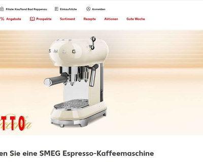 Giotto und Kaufland Gewinnspiel 50 SMEG Espresso-Kaffeemaschinen