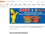 Haribo und Müller Gewinnspiel 50 Euro Einkaufsgutscheine gewinnen