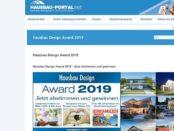 Hausbau Portal Gewinnspiel Hausbau-Design Award 2019