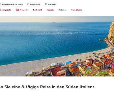 Italien Reise Gewinnspiel bei Kaufland