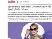 Jolie Gewinnspiele 5 Apollo Sonnebrillen Gutscheine