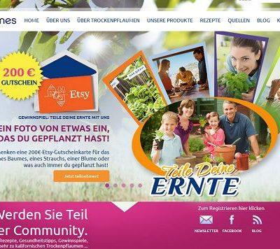 Kalifornische Trockenpflaumen Gewinnspiel Fotowettbewerb 200 Euro Gutschein
