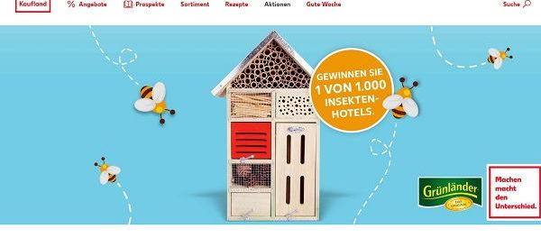 Kaufland Gewinnspiel 1.000 Insektenhotels Verlosung