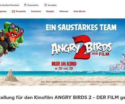 Kaufland Gewinnspiele Private Kinovorstellung Angry Birds 2