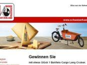 Lastenfahrrad Gewinnspiel Schweizerkäse Bakfiets Cargo Long Cruiser