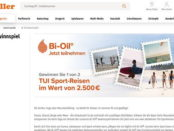 Müller Gewinnspiele Bi-Oil verlost TUI Reisegutscheine