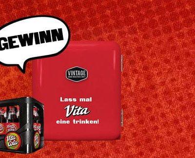 Mini-Kühlschränke Gewinnspiel Vita Cola Etiketten Wettbewerb 2019
