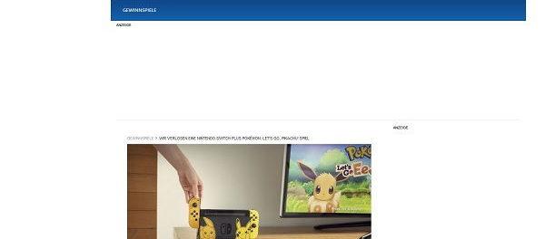 Nintendo Switch Gewinnspiel Lifeline Pokemon Design