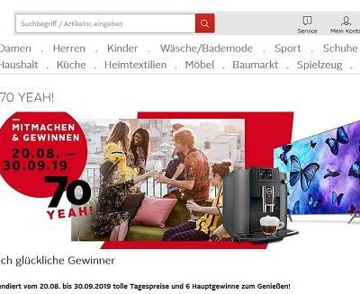 Otto Geburtstags-Gewinnspiel Samsung TV Geräte und Jura Kaffeevollautomaten