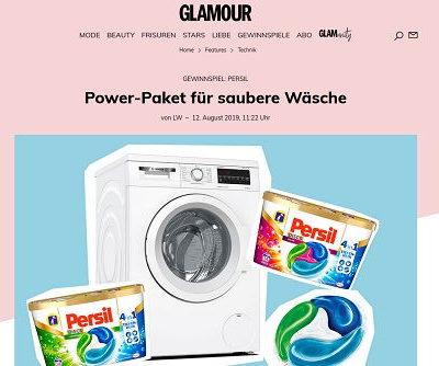 Persil und Glamour Gewinnspiel Bosch Waschmaschine kostenlos gewinnen