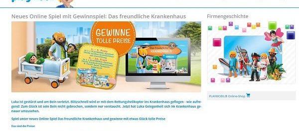 Playmobil Gewinnspiel Großes Krankenhaus und weitere Sets