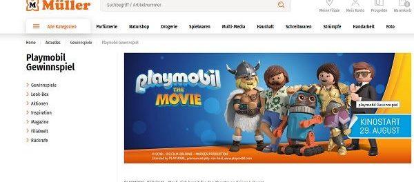 Playmobil Gewinnspiel Müller Drogerien 20 Gewinne