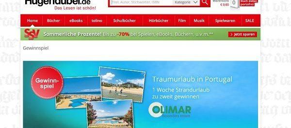 Reise-Gewinnspiel Hugendubel 1 Woche Portugal Urlaub