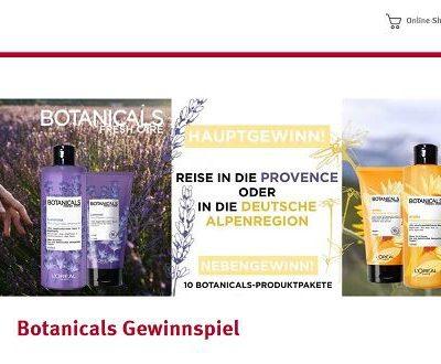 Reise Gewinnspiel Rossmann Botanicals Provence oder Alpen Urlaub