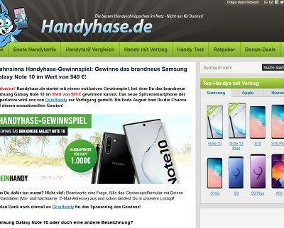 Samsung Galaxy Note10 Smartphone Gewinnspiel Handyhase