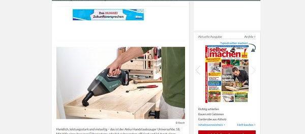 Selber Machen Gewinnspiel Bosch Akku-Handstaubsauger