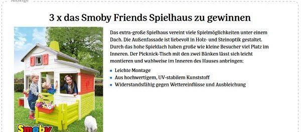 Smoby Kinderspielhaus Gewinnspiel Baby und Familie Magazin