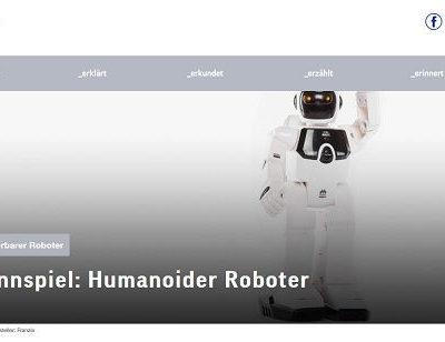 TUEV-Nord Gewinnspiel Humanoider Roboter gewinnen