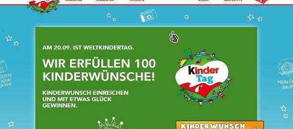 Weltkindertag Gewinnspiel 100 Kinderwünsche-Erfüllung
