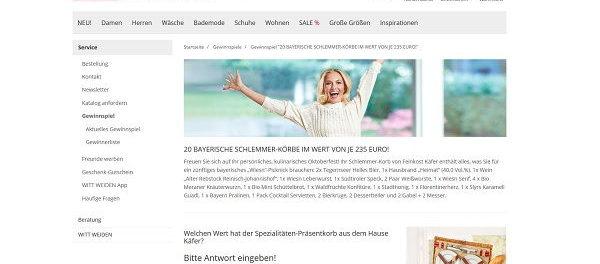 Witt Weiden Gewinnspiel 20 bayrische Schlemmerkörbe