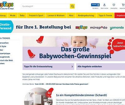 myToys Gewinnspiel komplettes Kinderzimmer und Babyzubehör