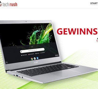 techrush Gewinnspiel Google Chrombooks Notebook Verlosung