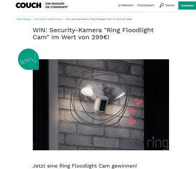 Überwachungskamera Gewinnspiel Couch Magazin