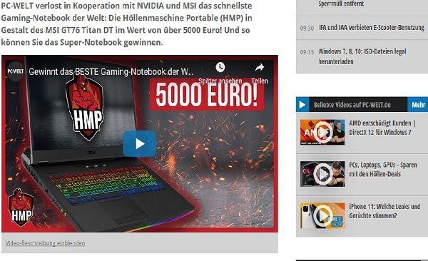 Gewinnspiel Laptop