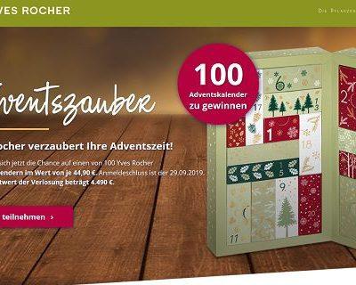 Adventskalender-Gewinnspiel 2019 Yves Rocher 100 Adevntskalender gewinnen