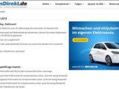 Auto-Gewinnspiel Renault ZOE Elektroauto ReifenDirekt