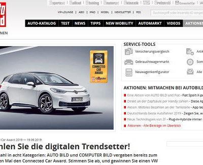 Auto-Gewinnspiele - Auto Bild VW ID.3 Wert 45.000 Euro