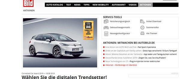 Auto-Gewinnspiele – Auto Bild  VW ID.3 Wert 45.000 Euro