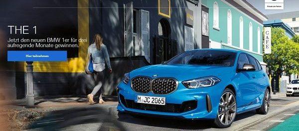 Autogewinnspiel BMW verlost 1er für 3 Monate