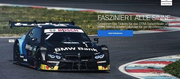 BMW Gewinnspiel BMW M850i xDrive Cabriolet Wochenende