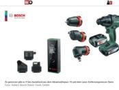 Bosch Akkuschrauber Gewinnspiel Werkzeeug-Set