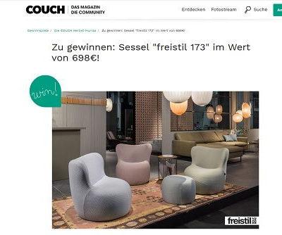 Couch Magazin Gewinnspiele Designersessel freistil gewinnen