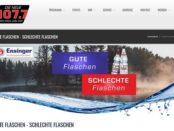 Die neue 107.7 Gewinnspiel Jahresvorrat von Ensinger Minerlawasser