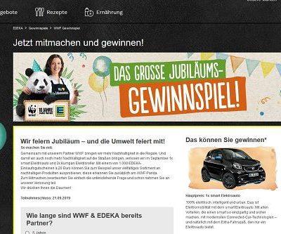 EDEKA Auto-Gewinnspiel WMF Smart Elektroauto
