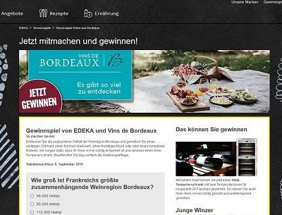 Edeka Gewinnspiel Wein-Temperierschrank gewinnen