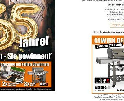 Einrichtungspartnerring Gewinnspiel Weber-Grill und Kettler Gartenmöbel