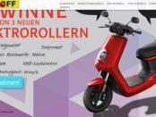 Elektroroller Gewinnspiel Meyerhoff drei NIU M+ E-Roller